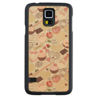 Romantic Roses and Dessert Carved Maple Galaxy S5 Case