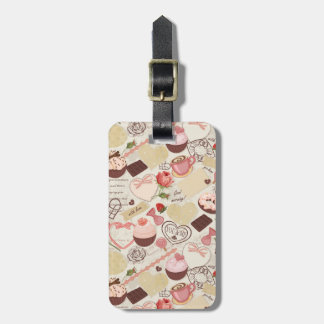 Romantic Roses and Dessert Luggage Tag