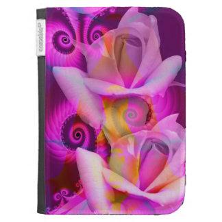 Romantic Roses and Swirls KIndle folio case