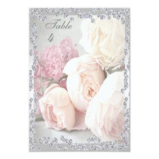 Romantic Roses & Diamonds 9 Cm X 13 Cm Invitation Card