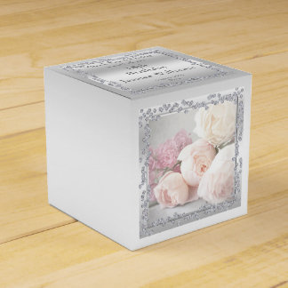 Romantic Roses & Diamonds Favour Box