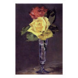 Romantic Roses in a Champagne Glass Print