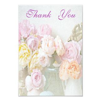 Romantic Roses in Jars Thank You 9 Cm X 13 Cm Invitation Card