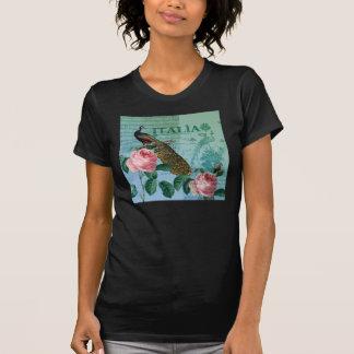 Romantic Roses Musical Peacock T-Shirt
