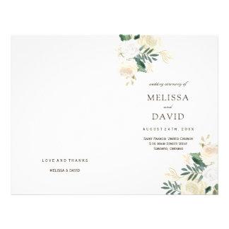 Romantic Roses Woodland Wedding Programs 21.5 Cm X 28 Cm Flyer