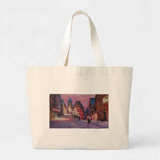 Romantic Rothenburg Tauber Germany in winter Canvas Bag