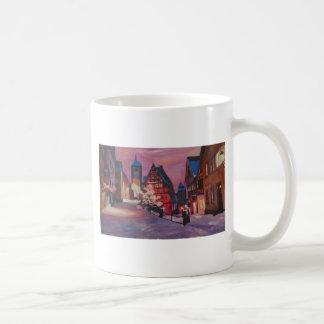 Romantic Rothenburg Tauber Germany in winter Basic White Mug