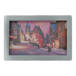 Romantic Rothenburg Tauber Germany in winter Belt Buckles