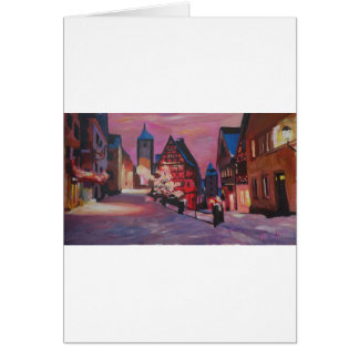 Romantic Rothenburg Tauber Germany in winter Greeting Card