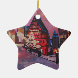 Romantic Rothenburg Tauber Germany in winter Christmas Ornament