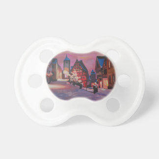 Romantic Rothenburg Tauber Germany in winter BooginHead Pacifier