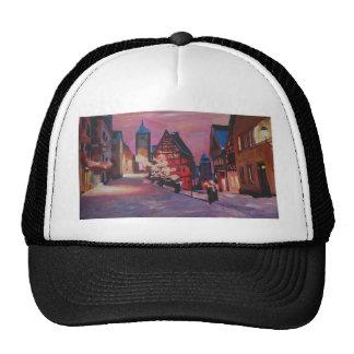 Romantic Rothenburg Tauber Germany in winter Hat