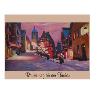 Romantic Rothenburg Tauber Germany in winter Postcards