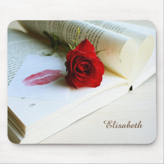 Romantic rustic book of love mouse pad