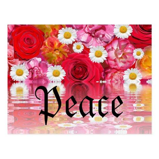 Romantic Safari Floral Bridal Shower Peace Destiny Postcard