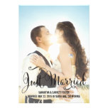 Romantic Script Wedding Announcement - Black