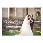 ROMANTIC SCRIPT | WEDDING THANK YOU PHOTO CARD PERSONALIZED ANNOUNCEMENT