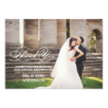 ROMANTIC SCRIPT | WEDDING THANK YOU PHOTO CARD PERSONALIZED ANNOUNCEMENT