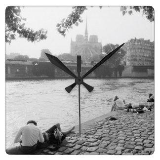 Romantic Seine River Clock