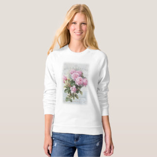 Romantic Shabby Chic Rose Sweater