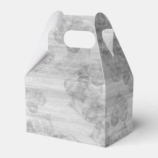 Romantic Silver Hearts Favour Box