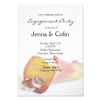 Romantic Simplicity Calla Lily Engagement Party 13 Cm X 18 Cm Invitation Card