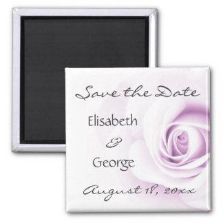 Romantic soft purple rose wedding Save the Date Magnet