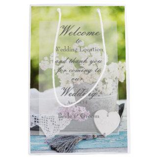 Romantic Spring Flower Floral Lilac Wedding Medium Gift Bag