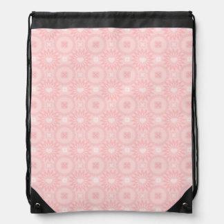 Romantic Spring Hearts Drawstring Bag