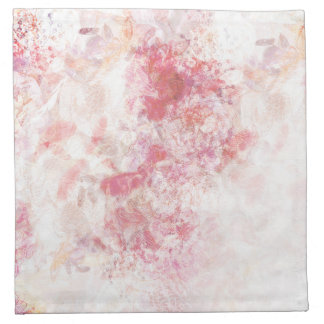 Romantic Spring Pink Flowers Wedding Napkin Cloth
