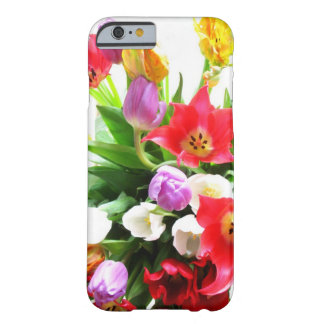 Romantic Spring Tulip Flowers Pattern Barely There iPhone 6 Case