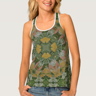Romantic Summer Garden Mandala Tank Top