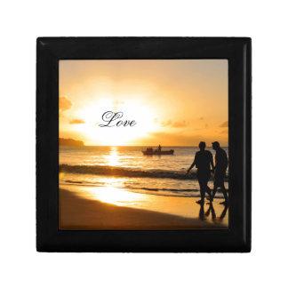 Romantic sunset gift box