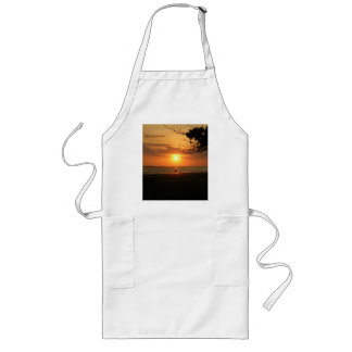 romantic sunset long apron