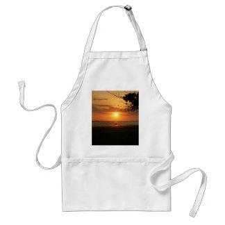 romantic sunset standard apron