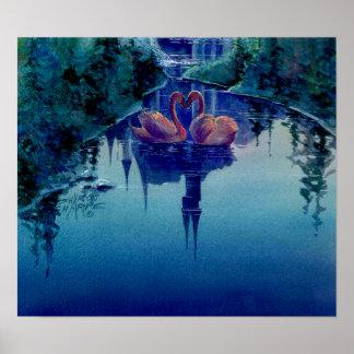 ROMANTIC SWAN by SHARON SHARPE Poster