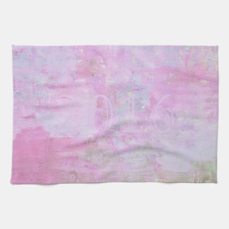 Romantic Sweet Happy New Year 2016 Soft Pink Hand Towel