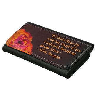 Romantic Tennyson Poem Floral Women's Wallet