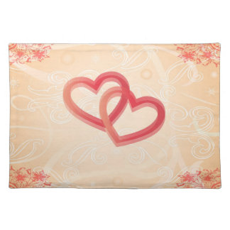 romantic texture with hearts Placemat