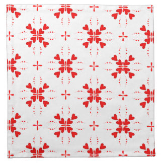 Romantic Tiled Red Love Heart Pattern Napkin