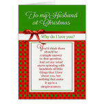 Romantic - To my Husband at Christmas Greeting Card