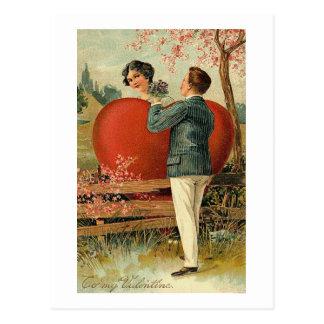 Romantic To My Valentine Postcard