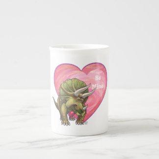 Romantic Triceratops Be Mine Bone China Mug