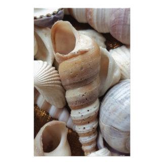 Romantic Tropical Exotic Sea Shells Beach Love Customized Stationery
