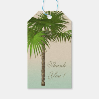 Romantic Tropical Palm Tree Gift Tags