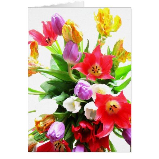 Romantic Tulips Bouquet Card