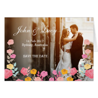 Romantic Unique Wedding Invitation Card Flowers