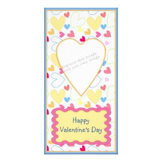 Romantic Valentine design Personalized Photo Card
