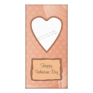 Romantic Valentine heart design Photo Greeting Card