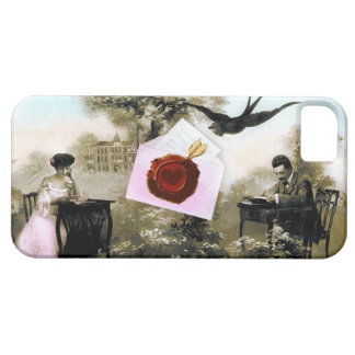 ROMANTIC VALENTINE LETTER ,RED WAX SEAL iPhone 5 COVER